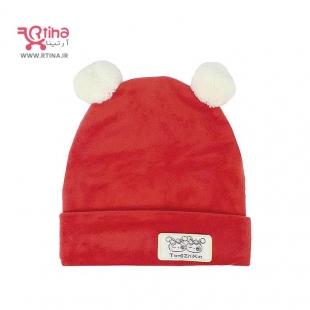 خرید کلاه مخمل دخترانه قرمز