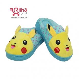 دمپایی روفرشی جلوبسته بچه گانه مدل pikachu