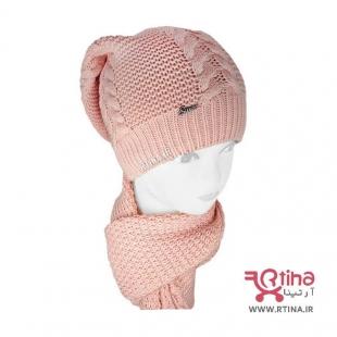 شال و کلاه بافتنی دخترانه جدید 2021