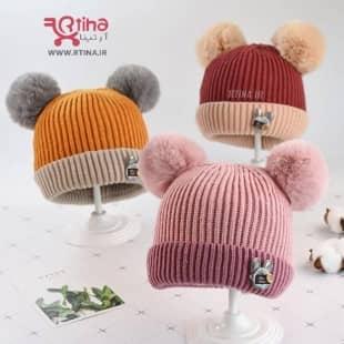 کلاه پسرانه نوزادی مدل عروسکی
