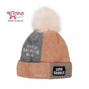 کلاه زمستانی مخمل بافت رنگ صورتی