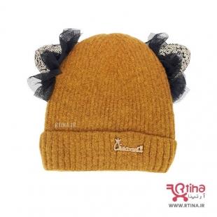کلاه بافت جدید دخترانه گوش دار
