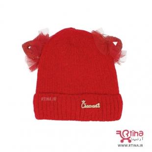 کلاه دخترانه زمستانی قرمز