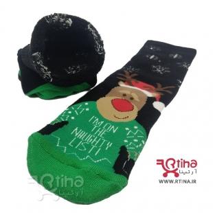 جوراب کریسمس حوله ای