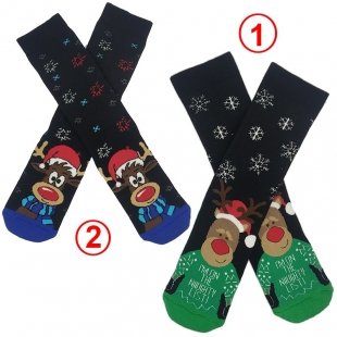جوراب زنانه حوله ای طرح کریسمسی EKMEN2