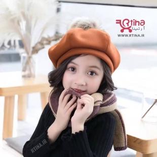 کلاه فرانسوی دخترانه پارچه ای