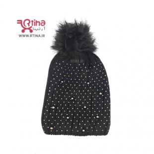 کلاه بافتنی زنانه مشکی