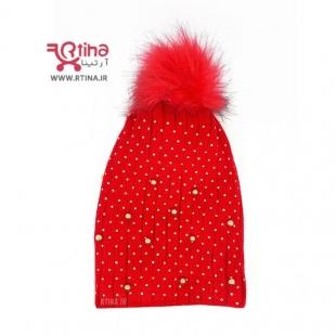 کلاه بافتنی زنانه قرمز