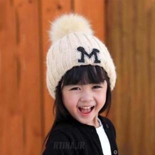 کلاه بافتنی دخترانه شیک
