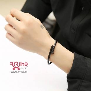 خرید دستبند شیک مشکی پسرانه