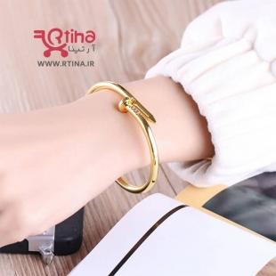 دستبند استیل طلایی زنانه