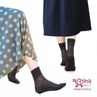 جوراب پارازین کفی دار رنگ پا و مشکی (بسته 6 عددی) مارک هلن