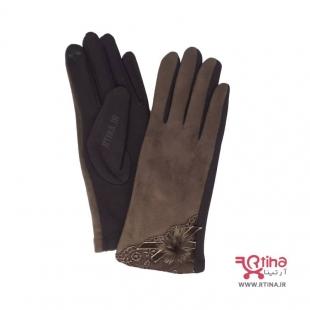 دستکش زمستانی جدید زنانه قهوه ای