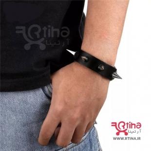 دستبند چرم اسپایکی