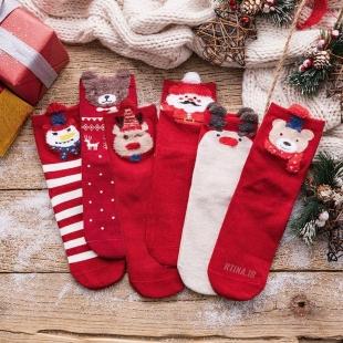 جوراب ساق دار طرح کریسمس a2