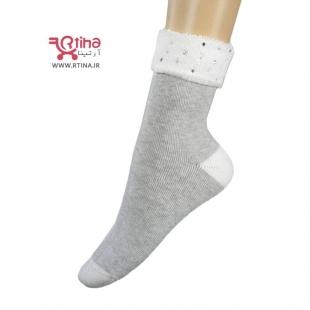 جوراب تمام حوله ای رنگ خاکستری