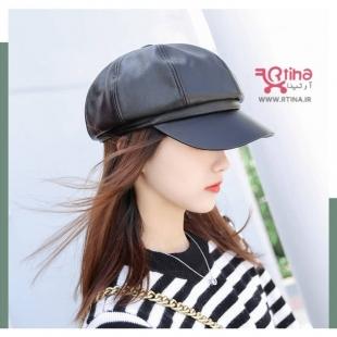 کلاه چرمی لبه دار زنانه خاص
