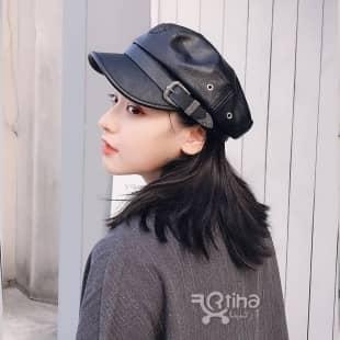 کلاه چرم نقاب کوتاه مدل Barata1