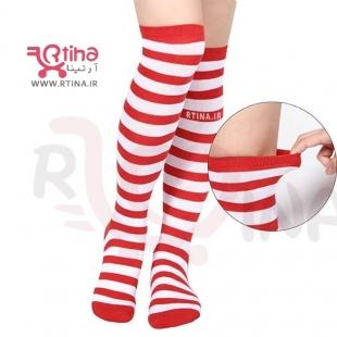 جوراب طرح دار زنانه ساق بلند رنگی مدل RTS52