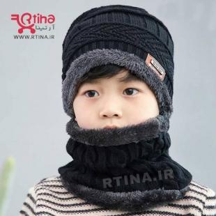 عکس شال گردن و کلاه بافتنی دخترانه