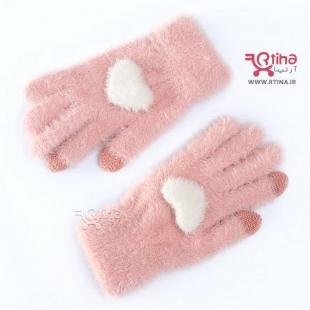 دستکش بافتنی تزئینی دخترانه