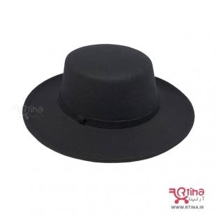 کلاه شاپو نمدی لبه دار مدل فدورا a4
