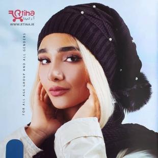 خرید کلاه زنانه نگین دار بافتنی