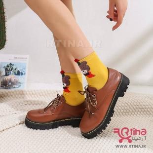 جوراب ساق دار طرح دار زنانه