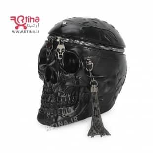کیف چرم طبیعی اصل مدل جمجمه skull + ارسال رایگان