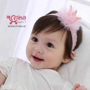 هدبند دخترانه نوزادی مدل تاج crown