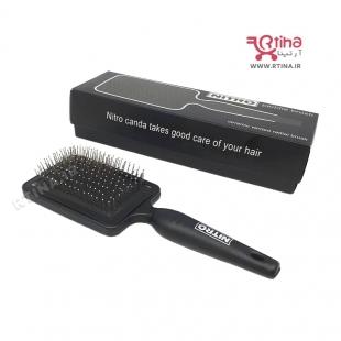 برس موی سر مشکی نیترو مدل Paddle Brush