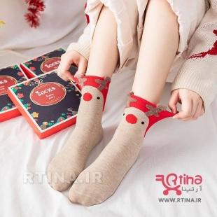 جوراب فانتزی زنانه مدل RT-Christmas Socks
