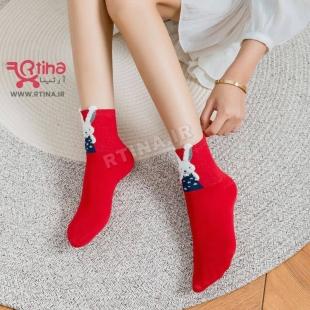 عکس جوراب قرمز  ساده