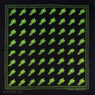دستمال سر و گردن سبز-مشکی طرح billie-eilish