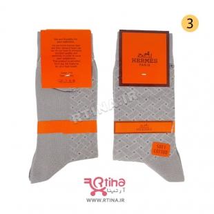 جوراب مردانه خاکستری بلند