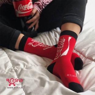 جوراب ساقدار طرح کوکا کولا زنانه و مردانه RT_ST 02