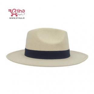 عکس کلاه کرم رنگ زنانه لبه دار