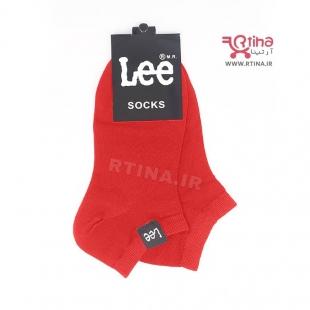 جوراب کوتاه مچی قرمز طرح Lee