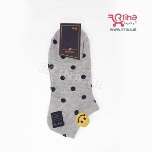 جوراب زنانه طوسی (اسپرت-مچی) مدل EMOJI-03