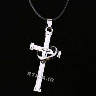 گردنبند صلیب استیل
