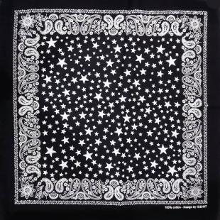 باندانا سیاه - سفید (دستمال گردن و سر زنانه) مدل RT-STAR02