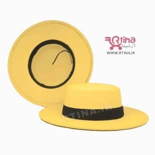 کلاه شاپو گرد (طرح اسپانیش) رنگ زرد مدل RT-H05