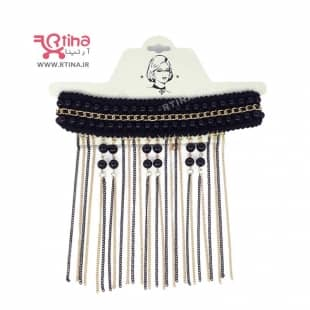 گردنبند پارچه ای - گیپوری مدل آویز دار