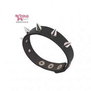 دستبند چرم پسرانه اسپرت مدل تک ردیفه