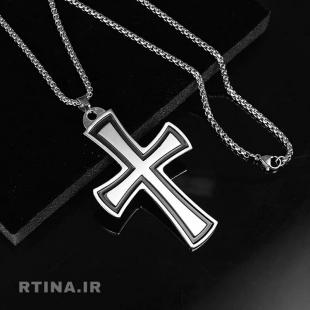 گردنبند صلیب فلزی