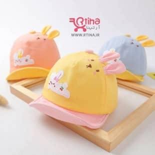 کلاه خرگوشی نوزادی مدل نقاب دار (دخترانه و پسرانه)