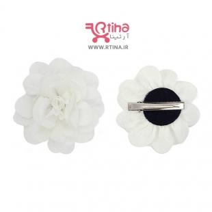 گل سر  سفید برای عروسی