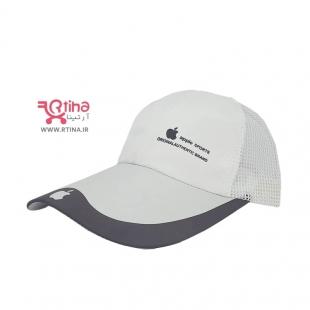 کلاه کپ دخترانه سفید مدل apple