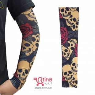 ساق دست اسپورت مردانه نخی مدل Rose & Skull
