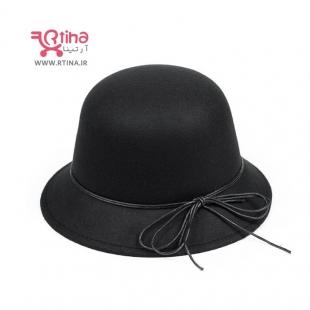 کلاه مشکی گرد